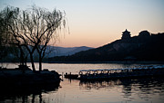 Beijing Prints - Summer Palace Evening Print by Mike Reid