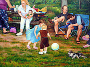 Realism Art Work Originals - Summer Picnic in Pennsylvania by Hilary England