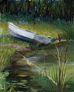 Boat Pastels Metal Prints - Summer Pond Metal Print by Susan Jenkins