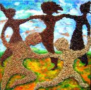 Prairie Mixed Media - Summer Prairie Dance by Naomi Gerrard