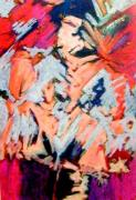 Figural Pastels Originals - Summer Psychosis by Michal Rezanka