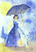 Raining Paintings - Summer Rain by Arline Wagner