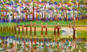 Cathy Harville Pastels Acrylic Prints - Summer Reflections Acrylic Print by Cathy Harville