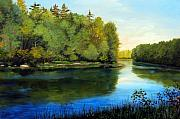 Meditative Paintings - Summer River by Laura Tasheiko