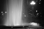 Washington Square Framed Prints - Summer Romance - Washington Square Park Fountain at Night Framed Print by Vivienne Gucwa