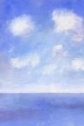 Distance Paintings - Summer Sea from Ventnor by Alan Daysh