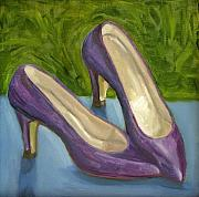 Shoe Paintings - Summer Shoes by Alma Dankoff