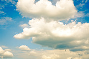 Shape Photo Prints - SUMMER SKY blue sky white clouds Print by Andy Smy