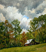 Abstract Realist Landscape Art - Summer Sky by Thor Wickstrom