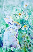 Pets Art Prints - Summer Smells Print by Zaira Dzhaubaeva