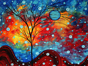 Brand Prints - Summer Snow by MADART Print by Megan Duncanson