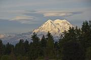 Summer Solstice - Mount Rainier Print by Sean Griffin