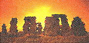 One Planet Infinite Places Digital Art - Summer Solstice at Stonehenge by Steve Huang