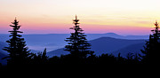 Summer Solstice Sunrise Highland Scenic Highway Print by Thomas R Fletcher