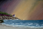 Summer Squall Framed Prints - Summer Squall Framed Print by Gordon Beck