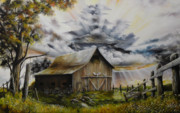 Antiques Paintings - Summer Storm by David Paul