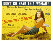 1944 Movies Posters - Summer Storm, Linda Darnell, 1944 Poster by Everett