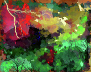 Fantasy Landscape Mixed Media - Summer Storm by Margaret Wingstedt