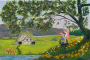Playing Painting Originals - Summer Swing by James Geddes