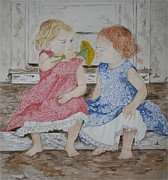 Summer Dresses Paintings - Summer Time by Carla Van Velze