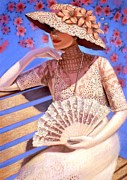 Victorian Lady Posters - Summer Time Poster by Sue Halstenberg