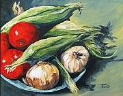 Onion Paintings - Summer Vegetables  by Torrie Smiley