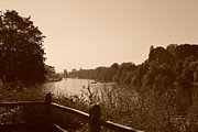 Hampton Court Prints - Summer View of the River Thames Print by Helen Esdaile