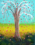 Cornfield Paintings - Summer Wishing Tree by Alys Caviness-Gober