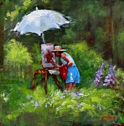 Umbrella Paintings - Summer Workshop by Laura Lee Zanghetti