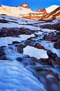 Mt Rainier Stream Framed Prints - Summerland Creek Framed Print by Inge Johnsson
