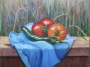 Red Pepper Pastels - Summers Bounty by Lorraine McFarland