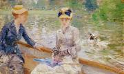 Lake Scene Paintings - Summers Day by Berthe Morisot