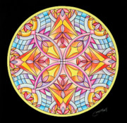 Geometrical Design Pastels Prints - Summers Delight Print by Marcia Lupo