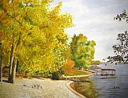 Lake Wylie Prints - Summers End Print by Shirley Braithwaite Hunt