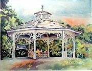 Bandstand Paintings - Summers Eve by Mary Haley