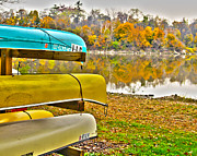 Canoes Art - Summers Over by Jack Schultz