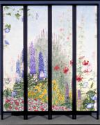 Lupines Paintings - Summerscreen by Nancy  Ethiel