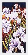 Mike Hill Prints - Summertime Irises Print by Mike Hill