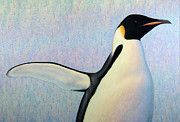 Emperor Penguin Prints - Summertime Print by James W Johnson