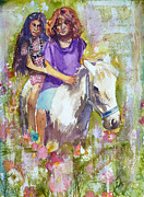 Impressionistic Horse Paintings - Summertime by P Maure Bausch