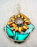 Wire Wrap Jewelry - Summertime Sunflower by Linda Ray