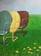Lawn Chair Originals - Summertrain II by Carrie Auwaerter