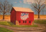 Summit Painting Posters - Summit County Barn Poster by CB Woodling