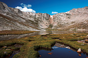Mount Evans Framed Prints - Summit Lake on Mount Evans Framed Print by David Bearden