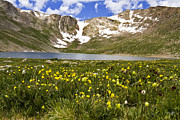 Mount Evans Framed Prints - Summit Lake Framed Print by Scott Pellegrin
