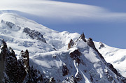 Midi Prints - Summit of Mont Blanc and LAiguille Du Midi Print by John Gaffen