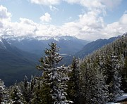 Overlooking A Valley Prints - Summit of Sulphur Mountain Print by Jenny Hudson