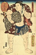 Sumo Framed Prints - Sumo Wrestler Ichiriki Framed Print by Padre Art