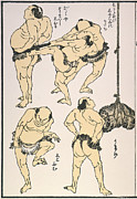 Sumo Framed Prints - Sumo Wrestlers, 1817 Framed Print by Granger