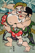 Sumo Framed Prints - Sumo Wrestling Framed Print by Granger